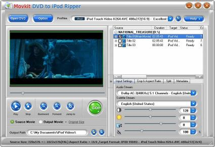 Download Movkit DVD to iPod Ripper