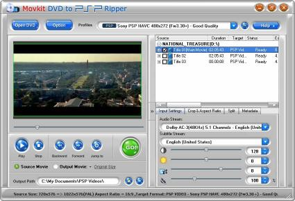 Download Movkit DVD to PSP Ripper