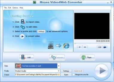 Download Moyea Video4Web Converter