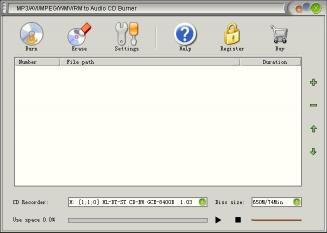 Download MP3/AVI/MPEG/WMV/RM to Audio CD Burner
