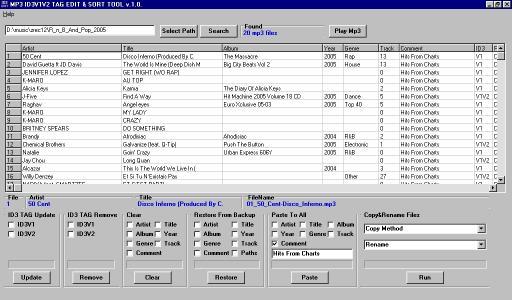 Download Mp3 ID3v1v2 Tag Edit & Sort Tool