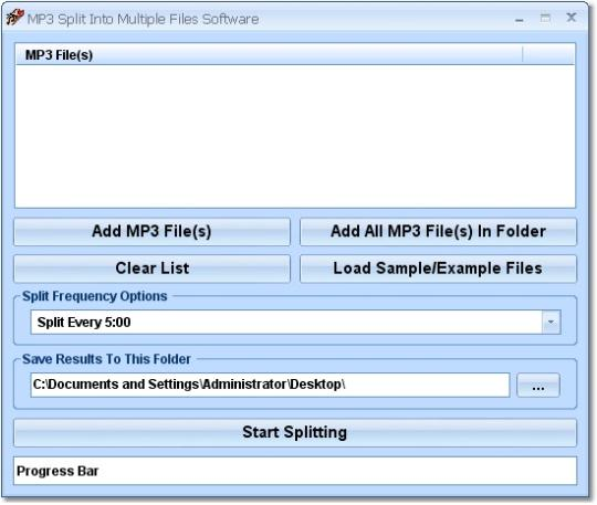 MP3 Split Into Multiple Files Software