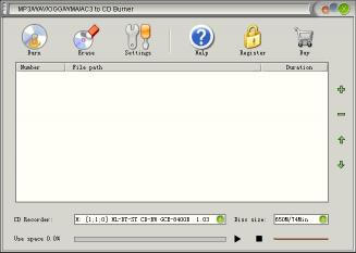 Download MP3/WAV/OGG/WMA/AC3 to CD Burner
