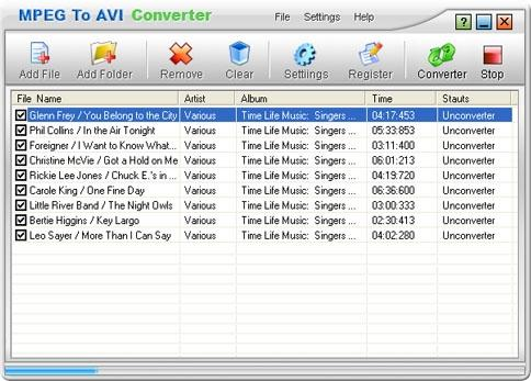Download MPEG To AVI Converter