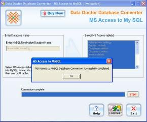 Download MS Access Database To MySQL Converter