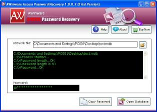 Download MS Access File Password Recovery