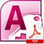 ms access save reports as pdf files software