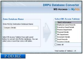 Download MS Access to MySQL Db Converter