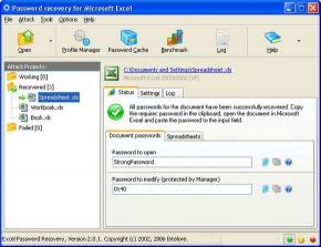 Download MS Excel Password Recovery Software