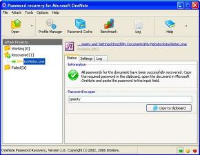 Download MS OneNote Password Recovery Software
