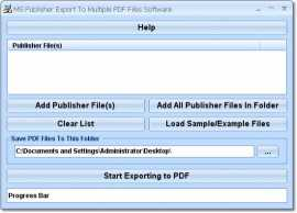 MS Publisher Export To Multiple PDF Files Software