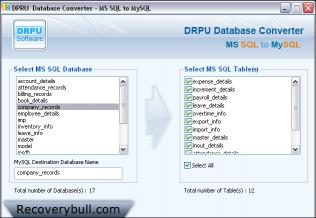 Download MS SQL To MySQL Conversion Program