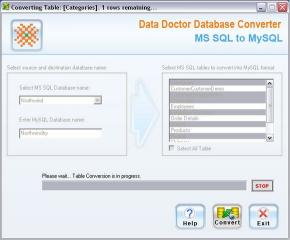 Download MS SQL to MySQL DB Converter