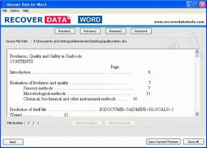Download MS Word Recovery Tool