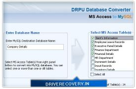 Download MSAccess Database to MySQL
