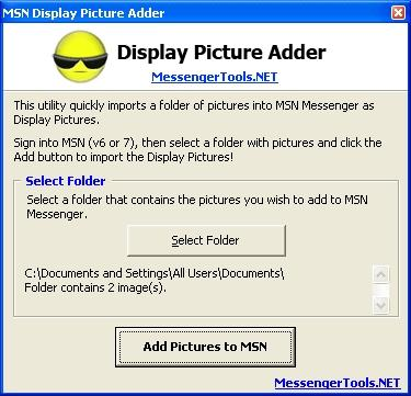 Download MSN Display Picture Adder