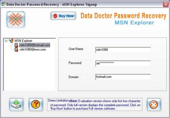MSN Explorer Password Rescue Tool - standaloneinstaller com