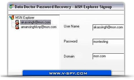 MSN Explorer Password Restore Tool - standaloneinstaller com