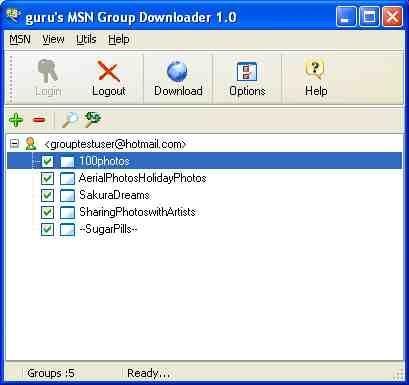 Download MSN Group Downloader