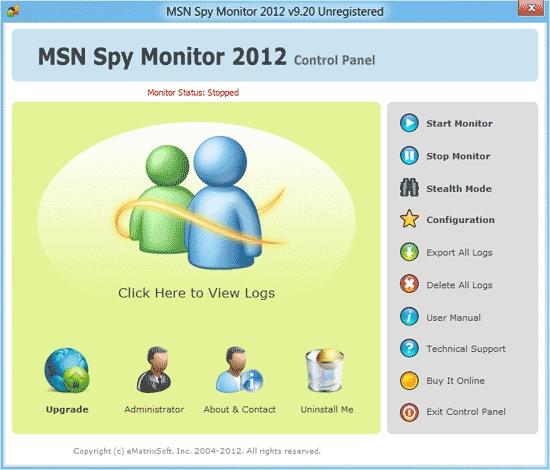 MSN Messenger Spy 2012 - standaloneinstaller com