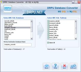 Download MSSQL to MySQL Conversion Software Ex