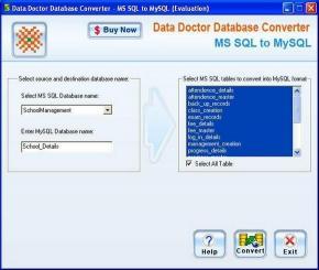 Download MSSQL To MySQL Converter ex