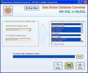 Download MSSQL to MySQL converter Tool
