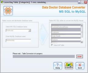 Download MSSQL To MySQL DB Converter Tool