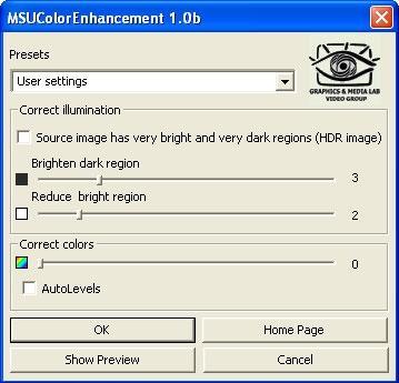 Download MSU Color Enhancement VirtualDub plugin