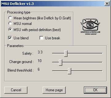 Download MSU Deflicker VirtualDub plugin