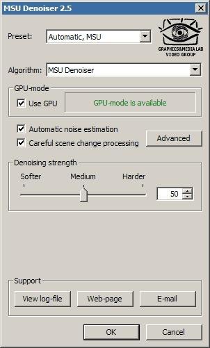 Download MSU Denoiser VirtualDub plugin
