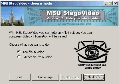 Download MSU StegoVideo