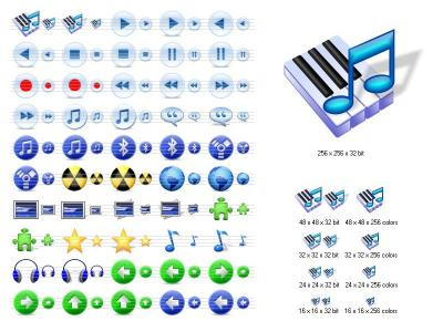 Download Multimedia Icons for Vista