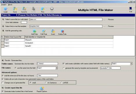 Download Multiple HTML File Maker