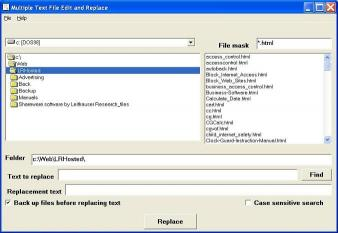 Download Multiple Text File Edit and Replace