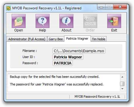 Download MYOB Password Recovery