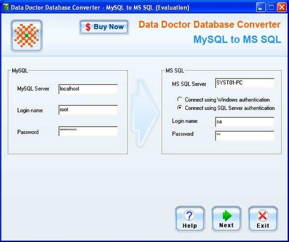 MySQL To MS SQL Conversion Software - standaloneinstaller com