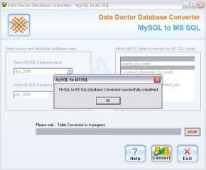 Download MySQL To MS SQL DB Converter Tool