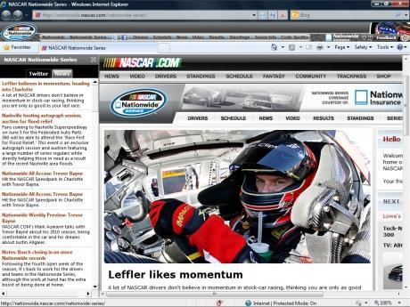 Download NASCAR Internet Explorer Theme