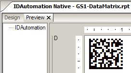 Download Native 2D DataMatrix for Crystal Reports