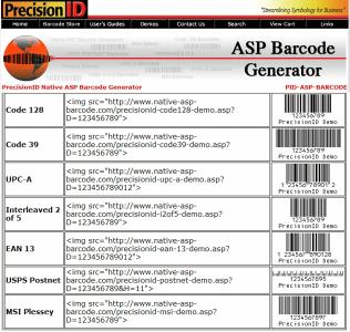 Download Native ASP Barcode Generator
