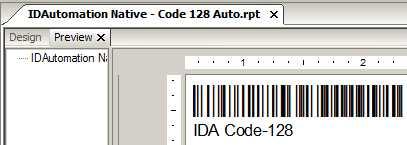 Native Crystal Reports Code 128 Barcode