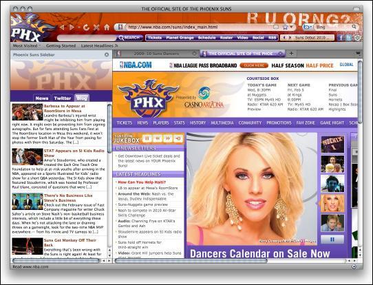 Download NBA Phoenix Suns Firefox Theme