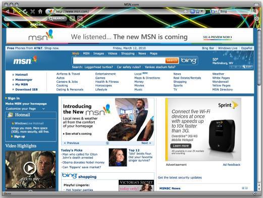 Download Neon Lights Internet Explorer Theme
