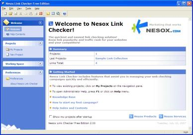 Download Nesox Link Checker Free Edition