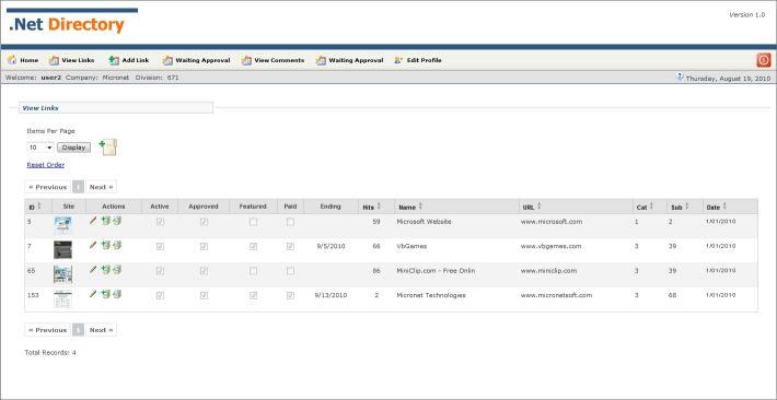 Download .Net Link Directory Website v1