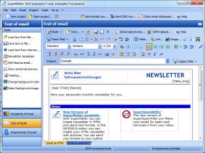 Download Newsletter Software SuperMailer