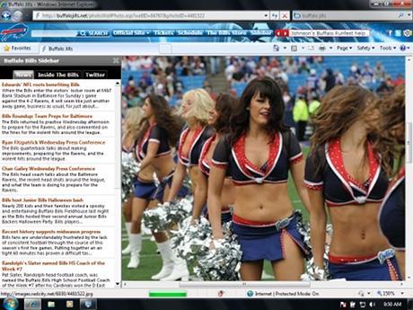Download NFL Buffalo Bills IE Browser Theme