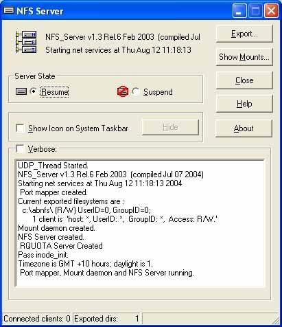 Download NFS client and server for windows ProNFS