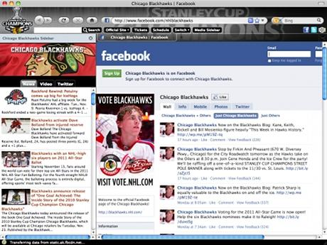 Download NHL Chicago Blackhawks IE Browser Theme